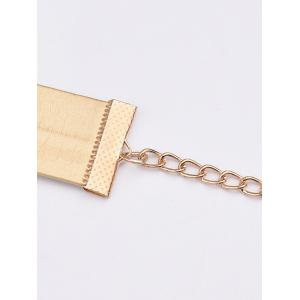 Concise PU Leather Choker Necklace - GOLDEN
