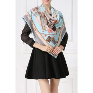 Soft Envelopes Print Square Scarf - Cloudy
