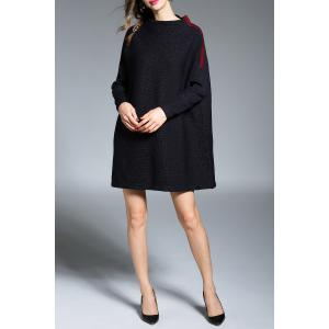 Pied de col Color Block Sweater Dress - Bleu Violet TAILLE MOYENNE