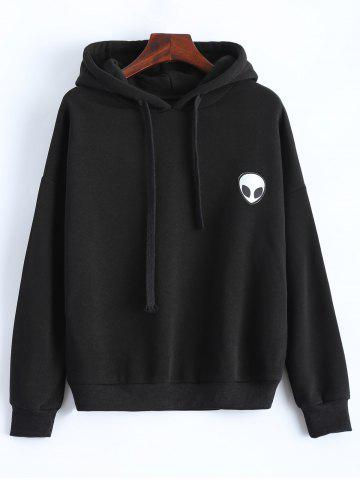 Shop Casual Skull Print Black Hoodie For Women