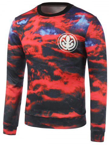 Shops Crew Neck Graphic Print Cloud Sweatshirt RED XL