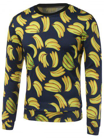 Outfit All Over Banana Printed Crew Neck Sweatshirt YELLOW XL