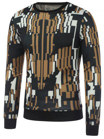 Shop Abstract Printed Crew Neck Sweatshirt COLORMIX XL