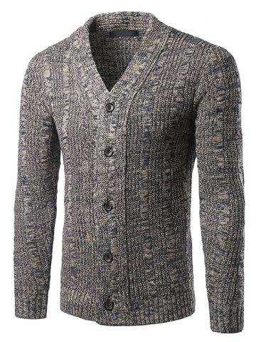 V-Neck Single-Breasted Knit Blends Cardigan