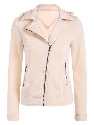 Outfit Cotton Zip-Up Thickening Winter Jacket APRICOT L