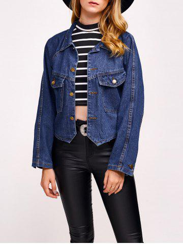 Sale Comfy Double Front Pockets Jean Jacket