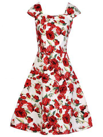 Affordable Fit and Flare Swing Retro Dress