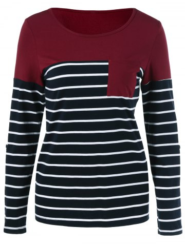 Best Adjustable Sleeve Striped T-Shirt