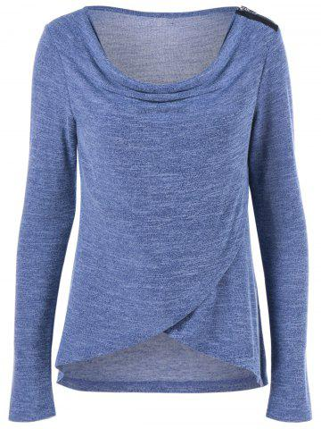 Chic Asymmetric Cowl Neck T-Shirt