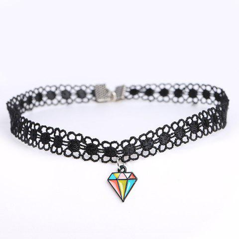 Affordable Diamond Shape Floral Choker