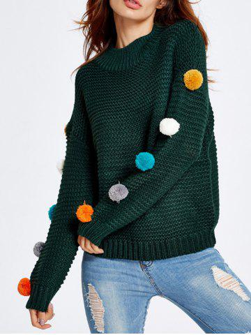 Outfit Pompon Chunky Knit Sweater