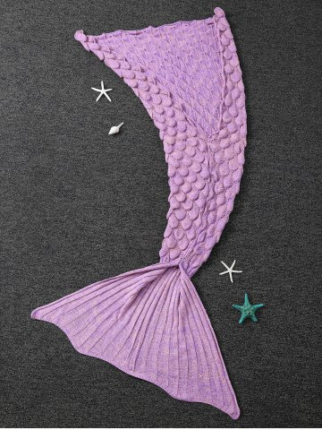Outfit Winter Thicken Crochet Throw Wrap Mermaid Blanket - CONCORD  Mobile