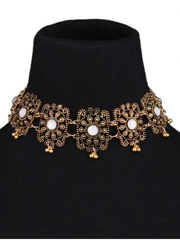 New Vintage Hollow Out Floral Choker Necklace