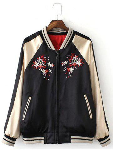 Trendy Double-Wear Floral Embroidered Souvenir Jacket