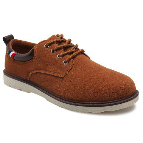 Affordable Suede Eyelet Casual Shoes