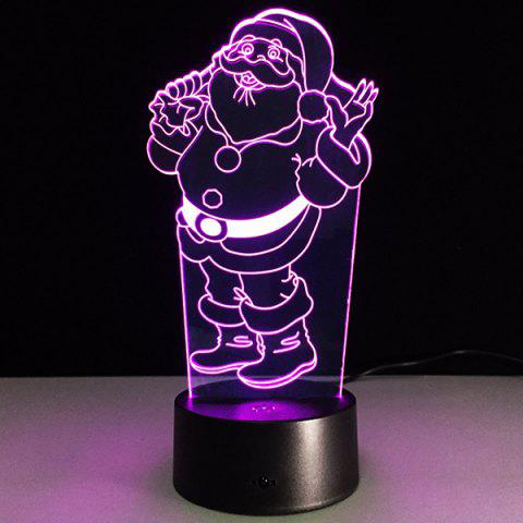Trendy 7 Color Changing 3D Santa Claus Night Light TRANSPARENT