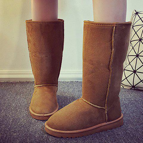 Outfits Suede Mid Calf Snow Boots LIGHT BROWN 40