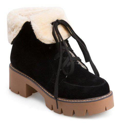 Latest Platform Fuzzy Fold Down Boots