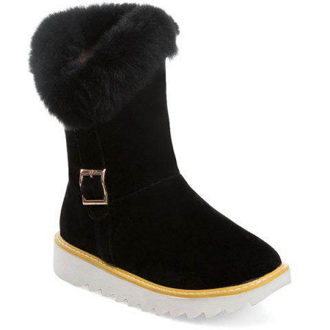 Best Fuzzy Buckle Strap Snow Boots