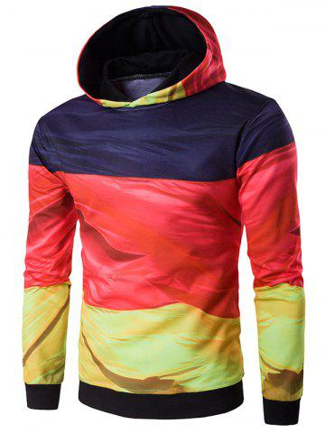 Shop Hooded 3D Flag of Germany Print Patriotic Hoodie COLORMIX 2XL