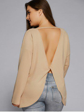 Best Plus Size Criss Cross Backless Sweater