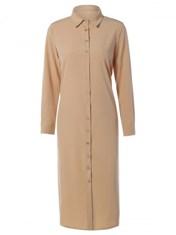 Outfit Casual Long Sleeve Maxi Shirt Dress