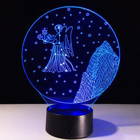 Shop 3D Visual 7 Color Changing Virgo Shape Touching LED Night Light