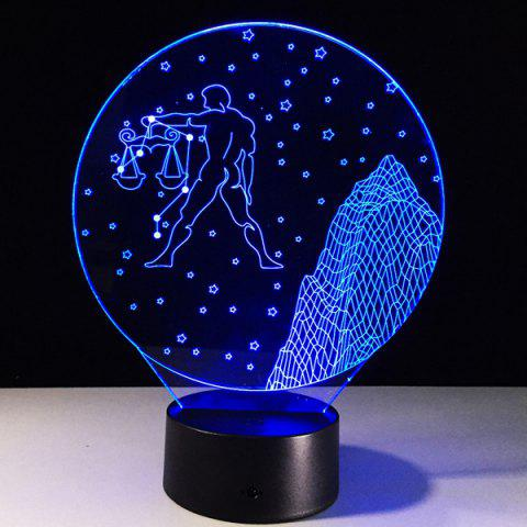 Best 3D Visual 7 Color Change Libra Shape Touching LED Night Light COLORFUL