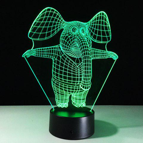 Latest 3D Visual 7 Color Change Elephant Shape Touching LED Night Light - COLORFUL  Mobile