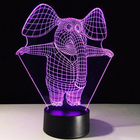 Fancy 3D Visual 7 Color Change Elephant Shape Touching LED Night Light - COLORFUL  Mobile