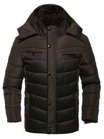Outfit Multi Pocket Zippered Hooded Padded Jacket