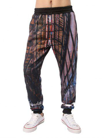 Store Sportive 3D Printed Elastic Waist Jogger Pants