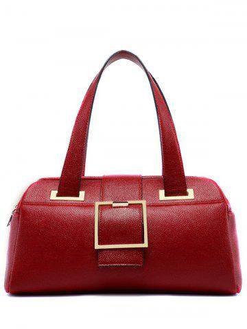 New Buckle Strap PU Leather Tote