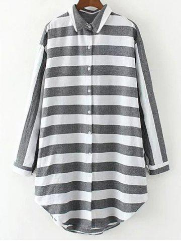 Outfit Striped Long Loose Shirt