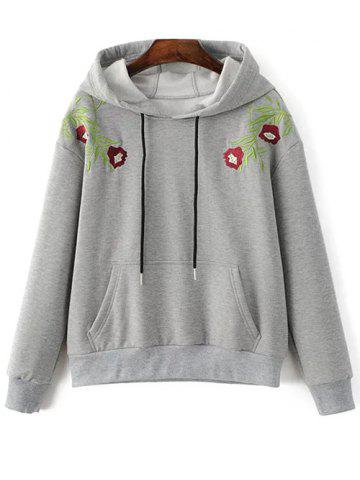 Shops Embroidered String Thickening Hoodie