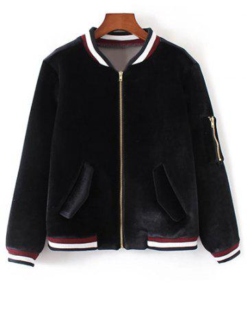 Trendy Zip-Up Embroidered Souvenir Jacket