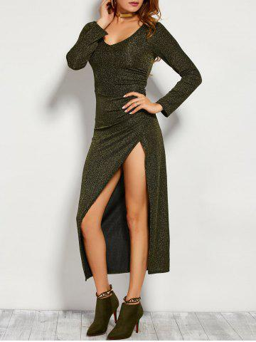 Outfits Maxi Long Glitter Dress with Sleeves