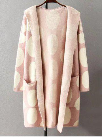 Best Hooded Polka Dot Knitted Cashmere Cardigan