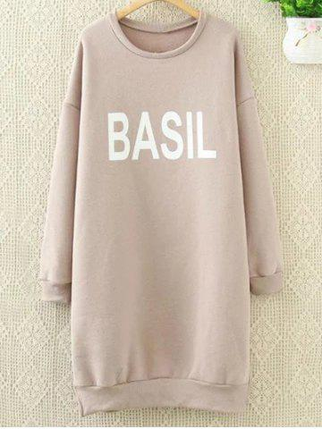 Cheap Loose Letter Long Sweatshirt