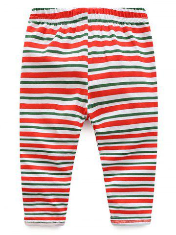 Sale Kids Christmas Elk Dress With Striped Pants Outfits - 90 RED Mobile