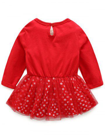 Cheap Kids Christmas Elk Dress With Striped Pants Outfits - 90 RED Mobile