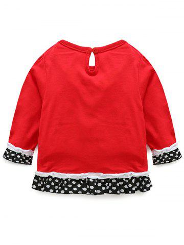 Hot Kids Christmas Snowman T-Shirt With Striped Pants Outfits - 70 RED Mobile