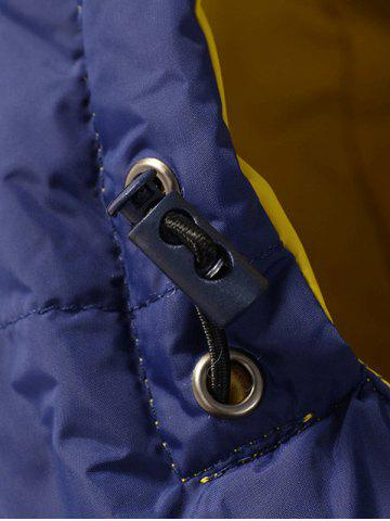 Affordable Zip Pocket Hooded Padded Jacket - XL STONE BLUE Mobile
