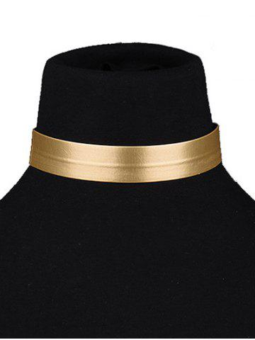 Affordable Concise PU Leather Choker Necklace GOLDEN