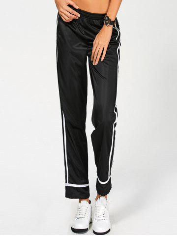 Best Elastic Waist Striped High Waisted Track Pants