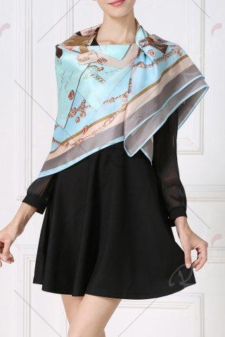 New Soft Envelopes Print Square Scarf - CLOUDY  Mobile