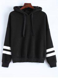 Long Sleeve Striped Oversized Hoodie -