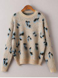 Vintage Cheetah Pattern Sweater