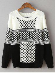 Geometric Net Pattern Loose Sweater