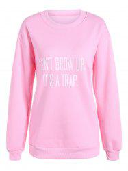 Casual Letter Print Fleece Sweatshirt
